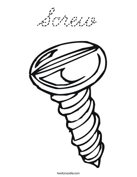 Screw1 Coloring Page