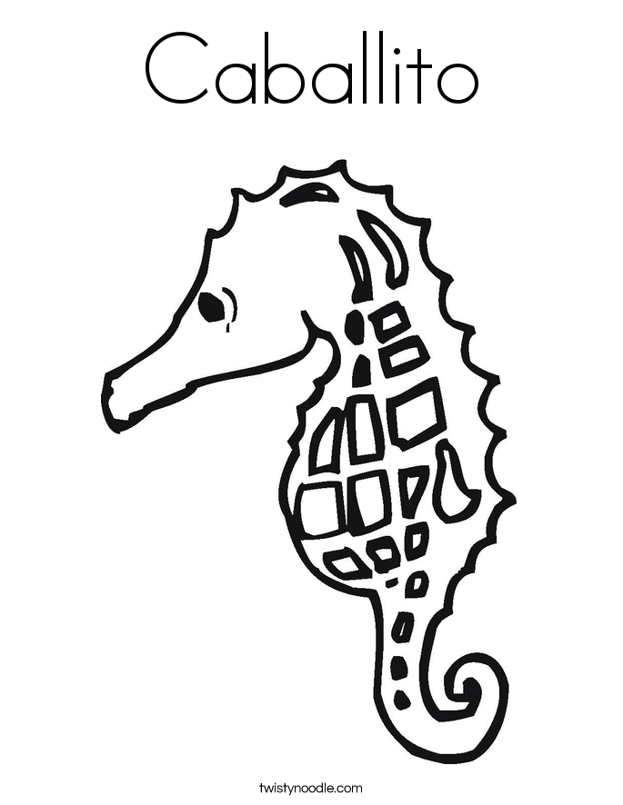 Caballito Coloring Page