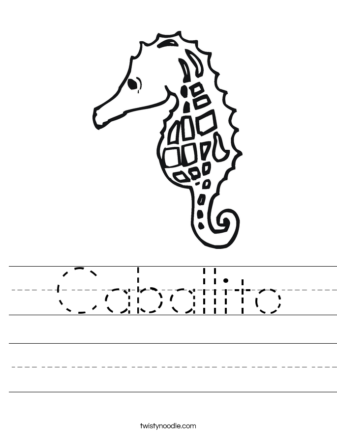 Caballito Worksheet