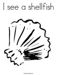 I see a shellfishColoring Page