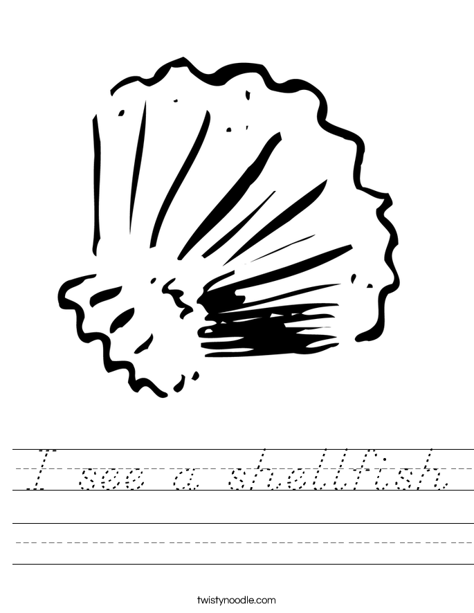 I see a shellfish Worksheet