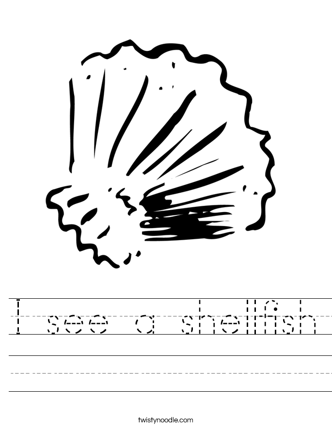 I see a shellfish Worksheet