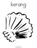 kerangColoring Page
