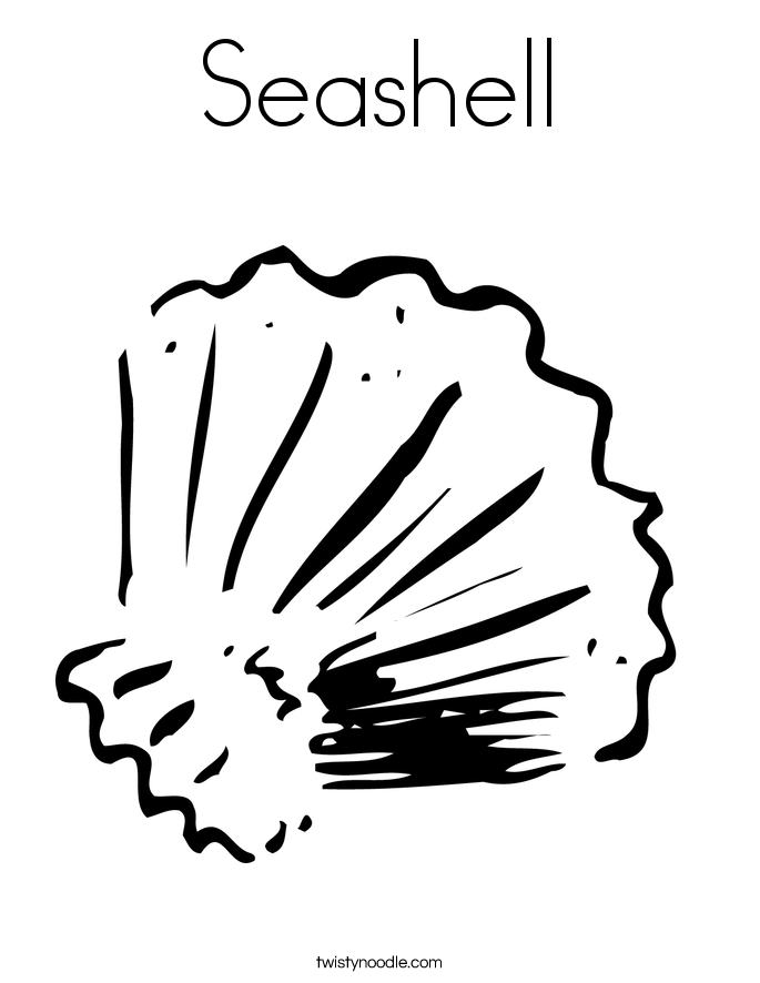 seashell coloring page - Seashell Coloring Pages Printable