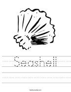 Seashell Handwriting Sheet