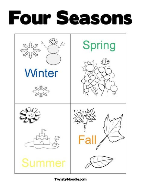 free four seasons tree coloring pages Big Four Seasons Coloring Pages  Coloring Pages Four Seasons