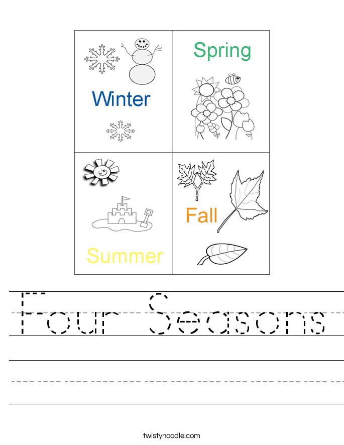 Seasons Worksheets – Season Worksheets for Kindergarten