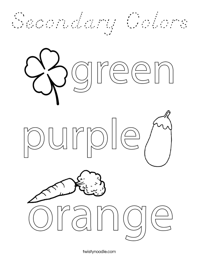 Secondary Colors Coloring Page