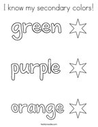 I know my secondary colors Coloring Page