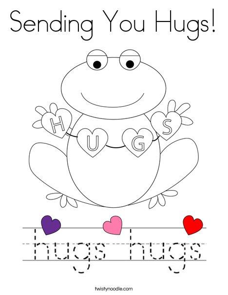 Sending you Hugs! Coloring Page