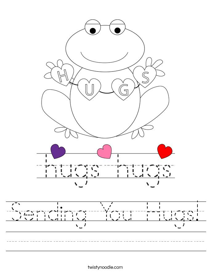 Sending You Hugs! Worksheet