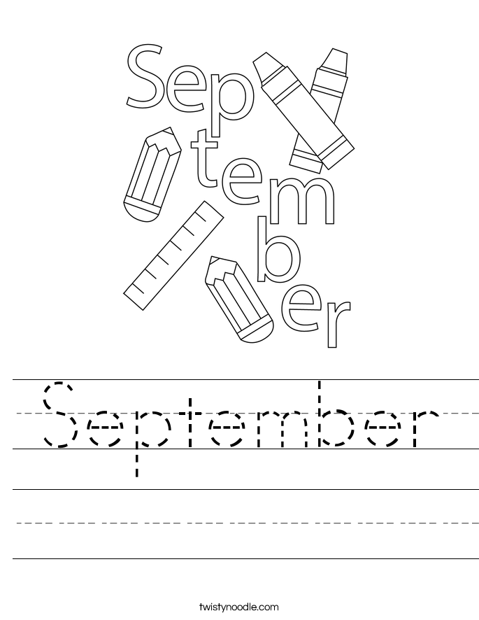 September Worksheet