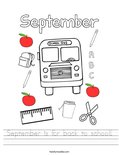 September is for back to school! Worksheet