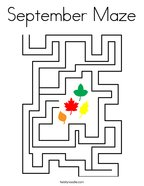 September Maze Coloring Page