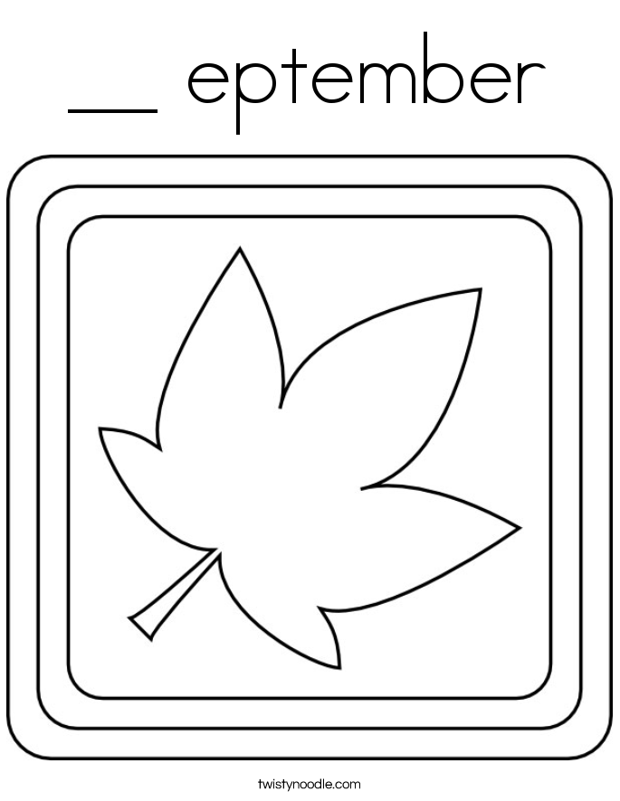 __ eptember Coloring Page
