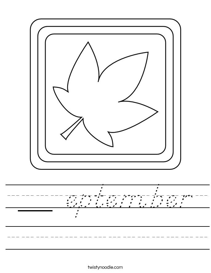__ eptember Worksheet