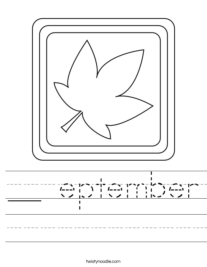 __ eptember Worksheet