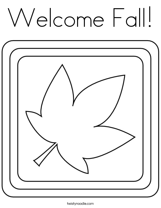 welcome fall coloring page