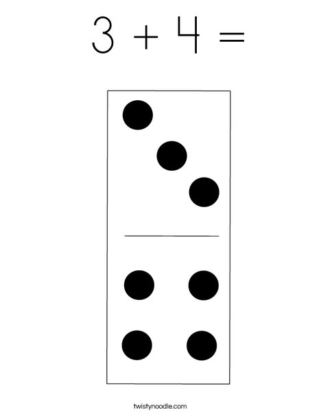 Domino Seven Coloring Page