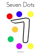 Seven Dots Coloring Page