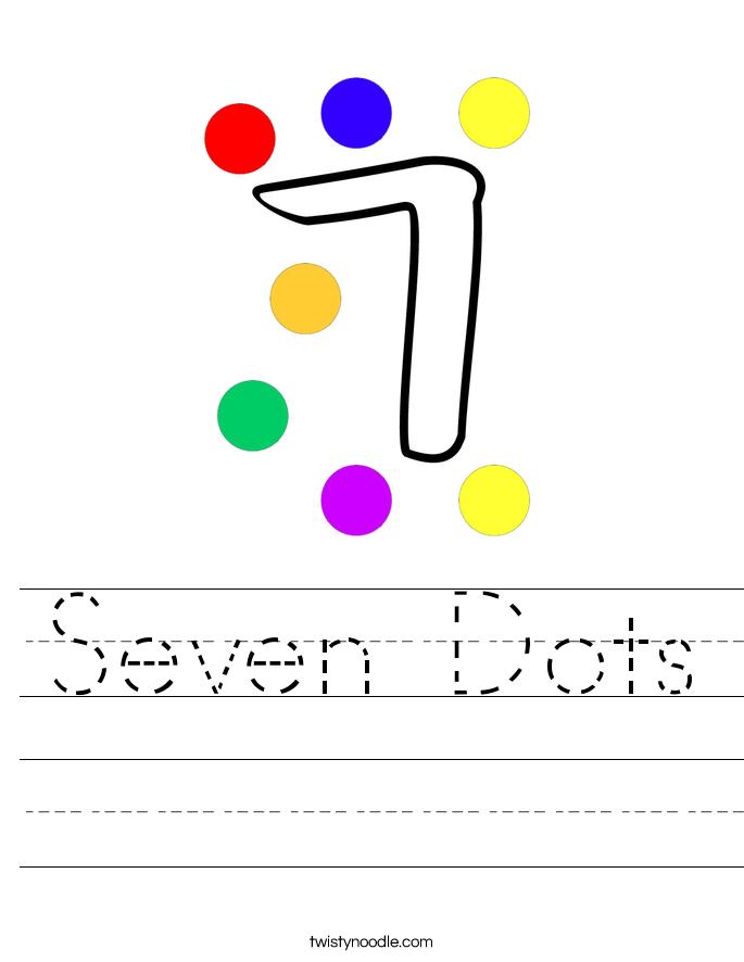 Seven Dots Worksheet
