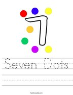 Seven Dots Handwriting Sheet
