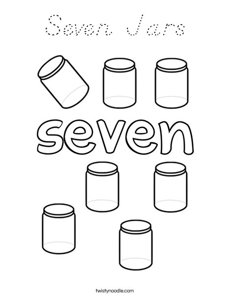 Seven Jars Coloring Page