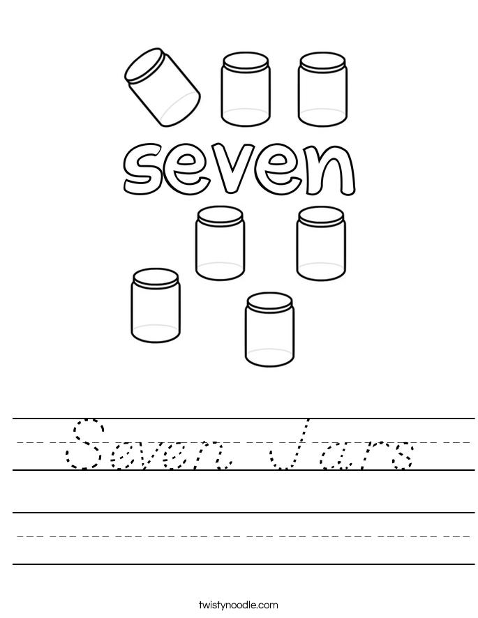 Seven Jars Worksheet