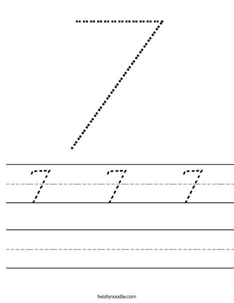 Seven Worksheet
