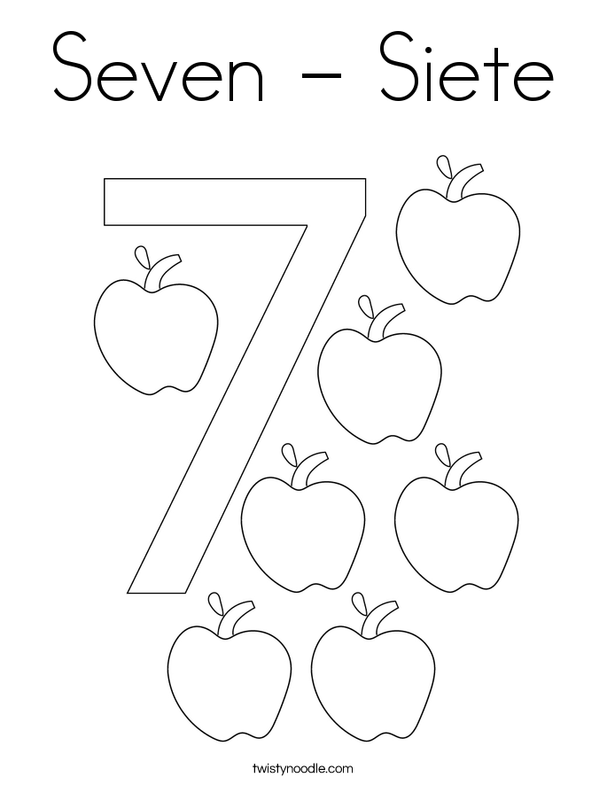 Seven - Siete Coloring Page