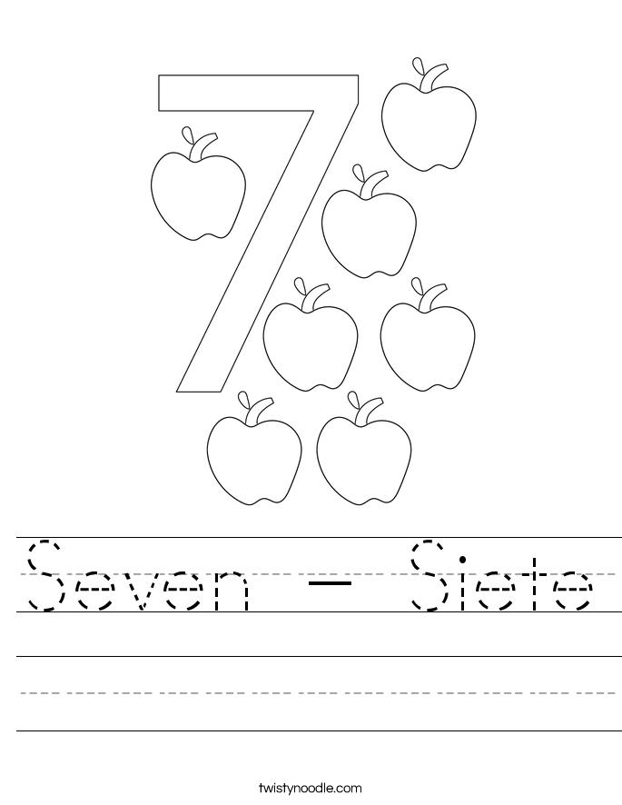Seven - Siete Worksheet