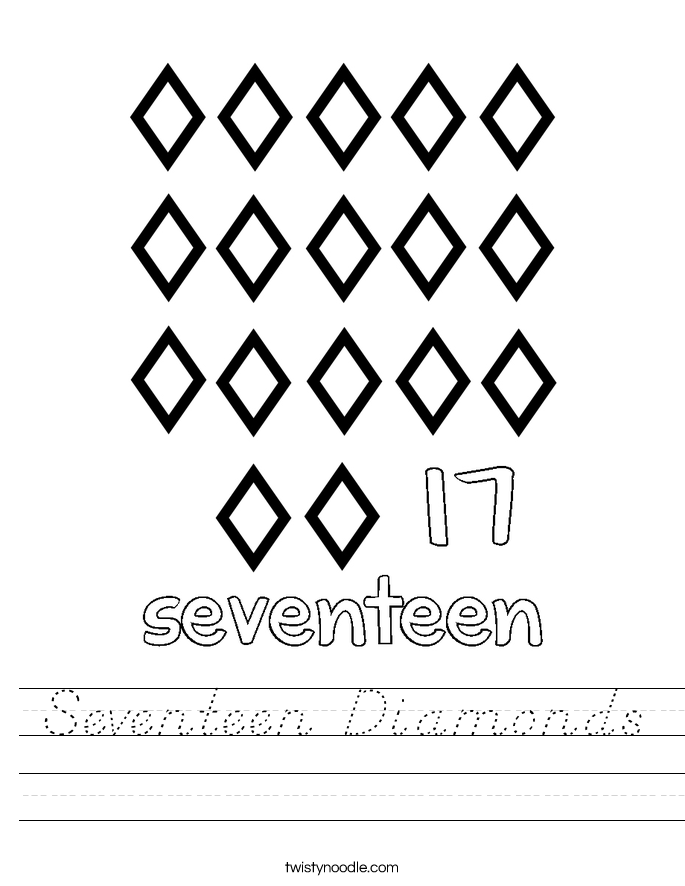 Seventeen Diamonds Worksheet