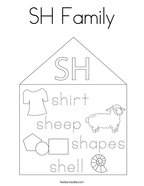 SH Family Coloring Page