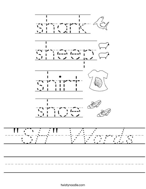 """SH"" Words Worksheet"
