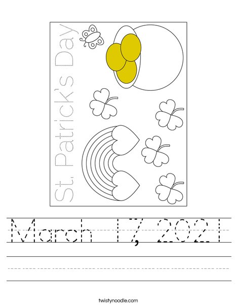 March 17th Worksheet