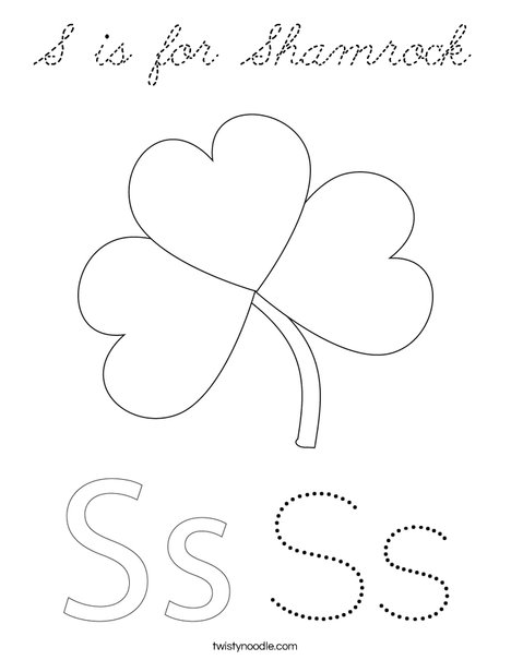Shamrock with Hat Coloring Page