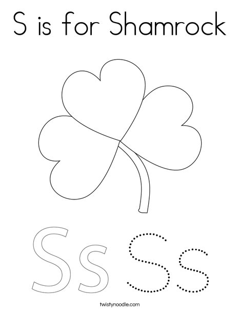 shamrock with hat coloring page - Shamrock Coloring Pages