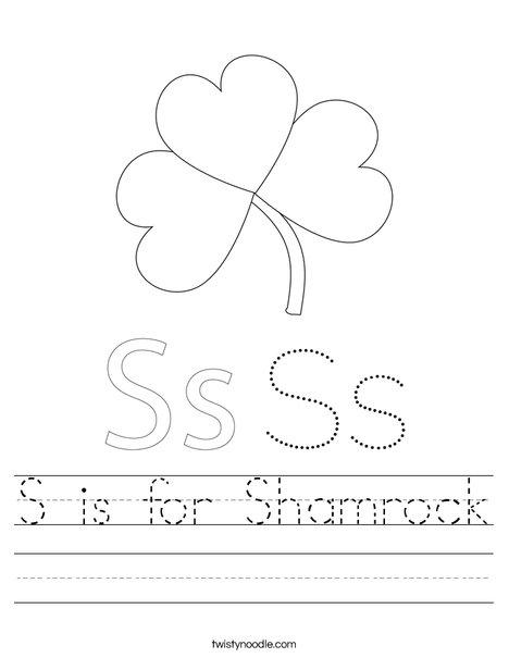 Shamrock with Hat Worksheet