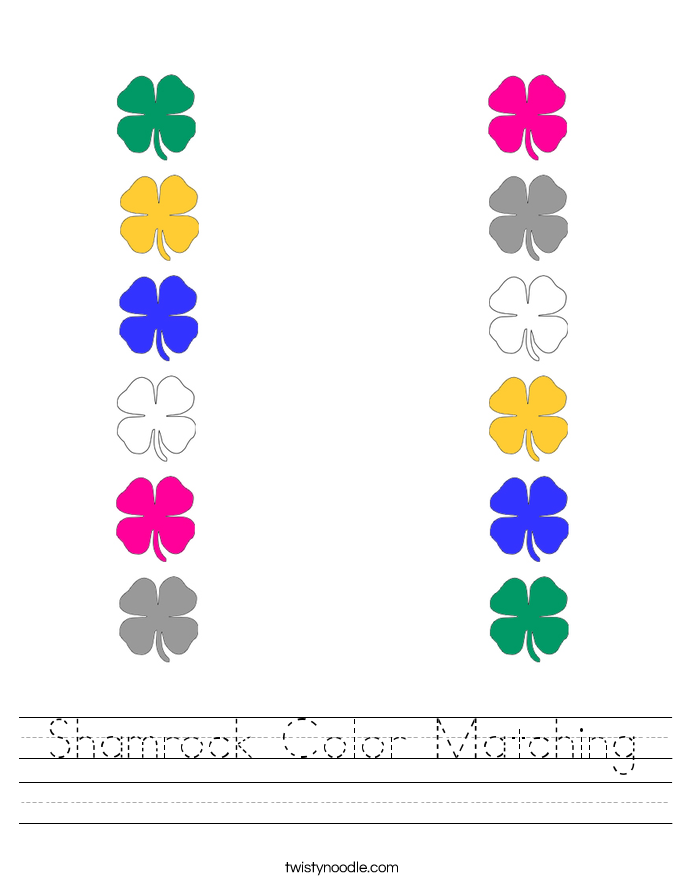 Free Preschool Color Matching Lesson Worksheet