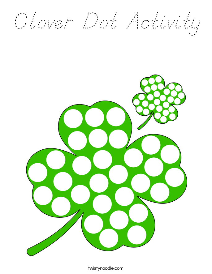 Clover Dot Activity Coloring Page