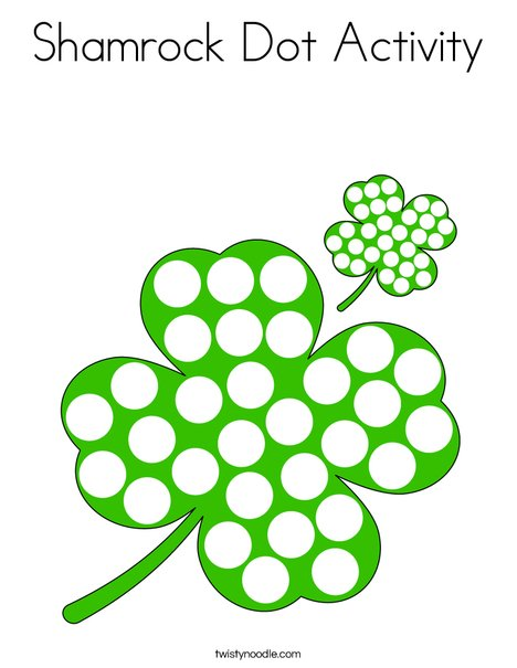 Shamrock Dot Activity Coloring Page