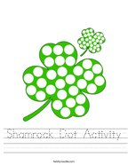 Shamrock Dot Activity Handwriting Sheet
