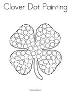 Clover Dot Painting Coloring Page