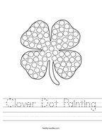 Clover Dot Painting Handwriting Sheet