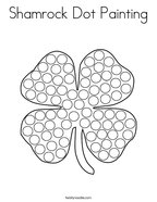Shamrock Dot Painting Coloring Page