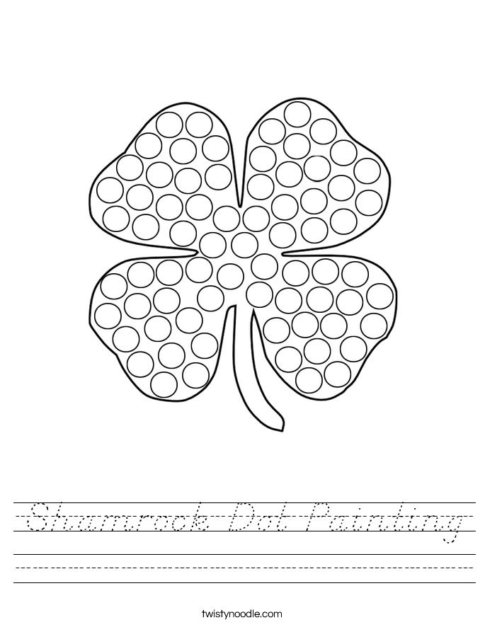 Shamrock Dot Painting Worksheet