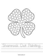 Shamrock Dot Painting Handwriting Sheet