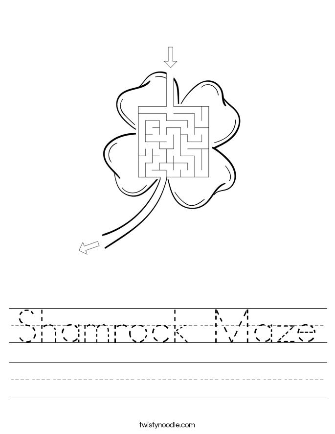 Shamrock Maze Worksheet