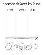 Shamrock Sort by Size Coloring Page
