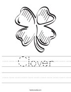 Clover Handwriting Sheet